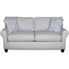 Sofab Bella Lake Gingham Loveseat With Two Accent Pillows (Blue... ($476