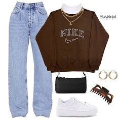 Baddie Outfits Casual, Indie Outfits, Teen Fashion Outfits, Retro Outfits, Cute Casual Outfits, Look Fashion, Outfits For Teens, Stylish Outfits, Mode Chic