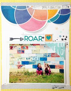 #papercraft #scrapbook #layout. roar by ginny at @studio_calico