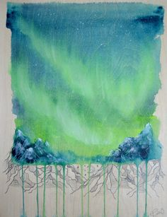 Beyond the Curtain  ORIGINAL painting by Ruth by RuthOosterman
