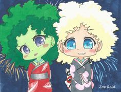 Broccoli and Cauliflower at a Japanese festival by Zoe-The-Zurtle on DeviantArt Japanese Festival, Broccoli, Cauliflower, Deviantart, Creative, Anime, Cauliflowers, Anime Shows, Anime Music