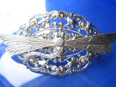 Dragonfly barrette Hair barretts hair clips by MyElegantThings, $35.00