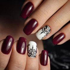 Black and white accent nail art. Маникюр | Ногти