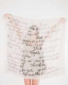 California Poems Scarf von leahgoren auf Etsy transparent paper design maybe