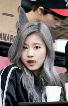Korean girl from the music group TWICE.