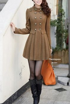Double Row Buttons woolen Winter Coat more colour by thesimpson, $92.00