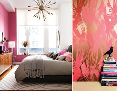 pink and gold home decor - Google Search
