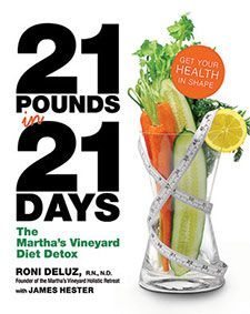 At the end of the day, you've consumed 40-48 ounces of water, 32-40 ounces of herbal tea, 16 ounces of vegetable-based soup, and 32 ounces of either a green drink made from vegetables, vegetable juice, or a berry drink. About 1000 calories.