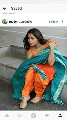 Indian Suits, Indian Attire, Punjabi Suits, Indian Dresses, Indian Wear, Punjabi Girls, Patiala Suit, Salwar Suits, Punjabi Fashion
