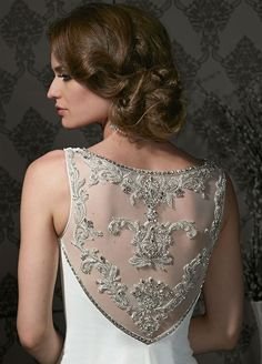 impression bridal wedding dress lace back