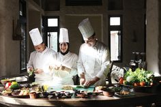 Cooking class never looked more fun! Six Senses Zighy Bay, Oman http://www.sixsenses.com/resorts/zighy-bay/dining
