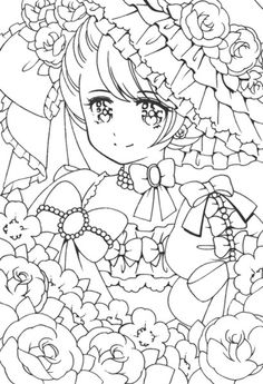 Shoujo coloring page.