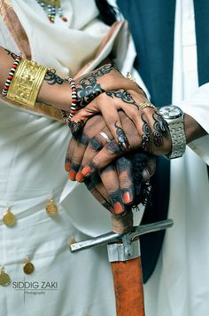 Africa | Sudanese Bride and Groom | ©Siddig Zaki