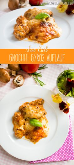 Fantastischer Low Carb Gyros Auflauf mit Blumenkohl Gnocchi #lowcarb #glutenfrei #foodporn www.lowcarbkoestlichkeiten.de