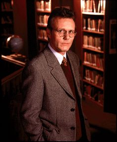 Anthony Stewart Head as Rupert Giles, Sunnydale High School librarian in Buffy the Vampire Slayer.