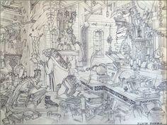 Antre d'un magicien. ( VARANDA ) sur lequel j'ai rajouté quelques anacronismes. #varanda #albertovaranda #art #artwork #artdraw #artdrawing #artpen #artpencil #artiste #artist  #pen #penart #pencil #draw #drawing #drawingart #graphite #graphitedraw #graphiteart #graphitedrawing