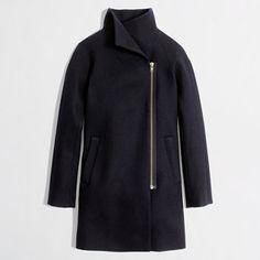 J.Crew  Factory wool-blend funnelneck coat