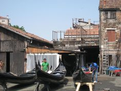 Gondola crafters in Venice