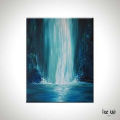 Blue-Falls-Liz-W-Waterfall-Painting