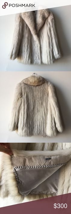 """Vintage Natural Blue Fox Fur Coat Absolutely stunning vintage fox fur coat circa 1970's/80's era. In fab condition. Shoulders 16"""", sleeves 24"""", bust 40"""", length 29.5"""". Marked size Small. Blue Fox Fur Jackets & Coats"""