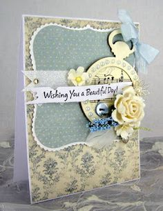 Blomsterbox: Lyseblåt kort