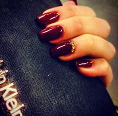 Nails red gold long idea style luxory