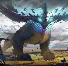 Monster Concept Art, Fantasy Monster, Monster Art, Creature Concept Art, Creature Design, Mythical Creatures Art, Fantasy Creatures, Fantasy Character Design, Character Art