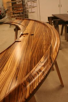 Zebrawood Synthesis Bar Rail by Grothouse https://www.glumber.com/
