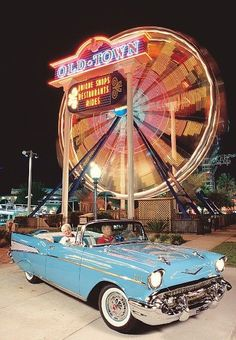 Old Town in Kissimmee, Florida was awesome! We had a lot of fun here especially at night when everything was lit up! It's like being back in the 50's...car shows, rides, shopping and EATING!!! ◉ pinned by http://www.waterfront-properties.com/