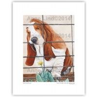 Basset Hound Artwork: Just Out of Reach