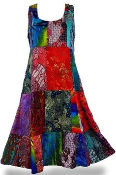 Patchwork Tank Style Dress