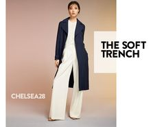 The soft trench from Chelsea28. Women's contemporary clothing.