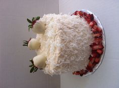 Strawberry piña colada cake!!