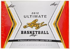 2012 Leaf Ultimate Draft Basketball Hobby Box by Ultimate. $95.95. Find (3) Autographed Cards Per Box! Look for Memorabilia Redemption Cards and On Card Inscriptions!! Look for top 2012 draft picks and highly coveted veterans! PRODUCT HIGHLIGHTS: Base Autographs: Autographs of all subjects with multiple parallells including 1/1's! State Pride: Our ever popular National Pride theme evolves into a celebration of the states of the player's home school or team. Numera...