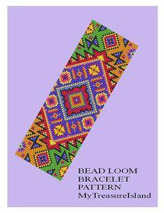 Бисера Loom шаблон Античный мотив 1 Широкий браслет шаблон Широкий манжета шаблон