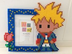 The Little Prince photo frame hama beads by Mon-babylou