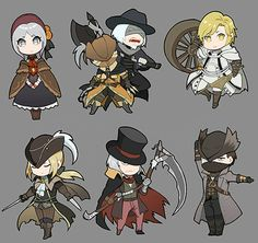 some bloodborne characters by biaay002