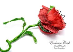 Tambour Embroidery, Bead Embroidery Jewelry, Embroidery Thread, Poppy Brooches, Beaded Brooch, Handmade Beads, Summer Hats, Seed Beads, Poppies