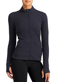 Piqué Vitalize Jacket - The perfectly lightweight summer jacket in a breathable stretch piqué knit that looks just as great over workout tights as it does over dresses.