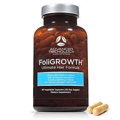 FoliGROWTH Ultimate Hair Nutraceutical – Get Thicker Hair, Reverse Diffuse Thinning Guaranteed - Gluten Free, Vegetarian, Party Tested - High Potency Biotin,. Biotin For Hair Loss, Vitamins For Hair Loss, Biotin Hair, Hair Formula, Best Hair Growth Supplements, Hair Growth Pills, Get Thicker Hair, Thin Hair, Wavy Hair