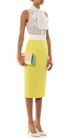 L'WREN SCOTT Flower jacquard pencil skirt