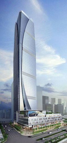 Suzhou ICC Tower, Suzhou, China by Benoy Architects :: 68 floors, height 303m