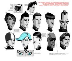 """Model sheet for characters for """"Tron Uprising"""""""