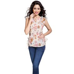 8a4aa98efce Buy Eighteen 4ever White Polyester Top by K M Apparels Pvt Ltd, on Paytm,  Price