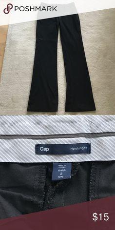 Women's black gap dress pants Women's dress/work pant. Gap Hip slung fit. Size 2. In great condition. GAP Pants Trousers