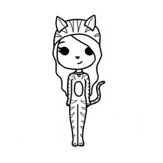 chibi template chibi template uploaded by DaddyPls on We Heart It Chibi Girl Drawings, Bff Drawings, Drawings Of Friends, Cute Kawaii Drawings, Cute Girl Drawing, Cartoon Girl Drawing, Easy People Drawings, Baby Girl Clipart, Modele Pixel Art