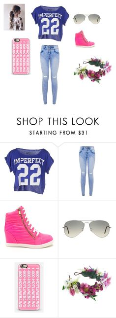 """""""hot"""" by deseray-doucette ❤ liked on Polyvore featuring interior, interiors, interior design, home, home decor, interior decorating, !M?ERFECT, Ray-Ban, Casetify and Rock 'N Rose"""