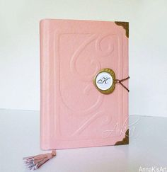 Your place to buy and sell all things handmade Leather Art, Leather Gifts, Girly Gifts, Pink Gifts, Customized Gifts, Personalized Gifts, Unique Gifts For Girls, Leather Photo Albums, Leather Bound Journal