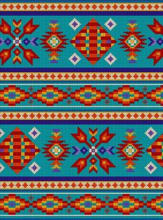ES-Tucson 450 Beaded Stripe - Sky Fabric by the Yard Tapestry Crochet Patterns, Crotchet Patterns, Bead Loom Patterns, Beading Patterns, Embroidery Patterns, Cross Stitch Patterns, Tapete Floral, Native American Patterns, Bead Crochet