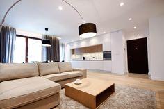 Living room, scandinavian style, lamp